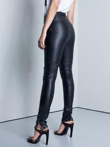 5d506d6b1947 Black Leather Pants with Zipper Trendy and Sexy Leather Pants. You cannot  go wrong with a sexy pair of leather pants a plain white tee and accent it  with ...