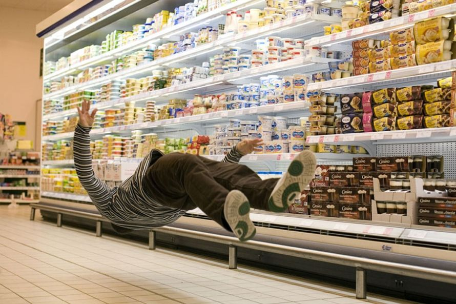 floating or falling? Parisian dancers in supermarkets --French photographer Denis Darzacq.