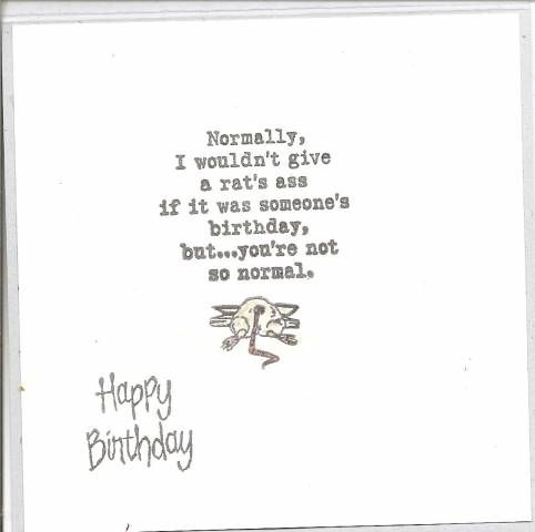 Tacky Birthday Wishes By 1volunteer Cards And Paper Crafts At