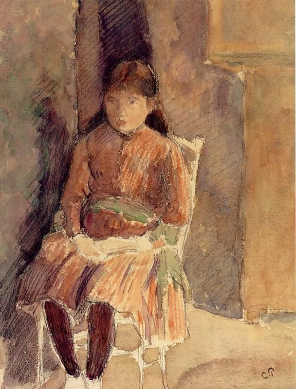 Portrait of Jeanne, the Artist's Daughter (Camille Pissarro - No dates listed)