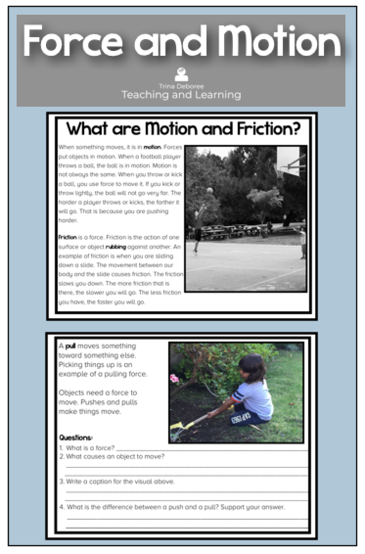 Force And Motion Reading Comprehension With Questions Reading Comprehension Reading Comprehension Passages Comprehension Passage [ 1132 x 746 Pixel ]