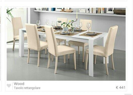Mondo convenienza Tavolo e sedie, Tavolo estraibile