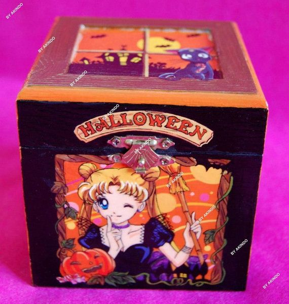 Sailor Moon anime handpainted Halloween jewelry box sailor moon