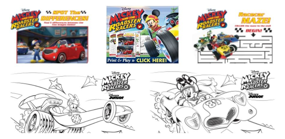 Mickey And The Roadster Racers Now On Dvd And Print And Play