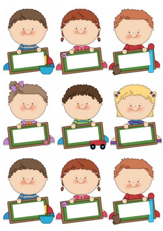 Niños Etiquetas De Nombres Decoracion De Aulas Gafetes Para