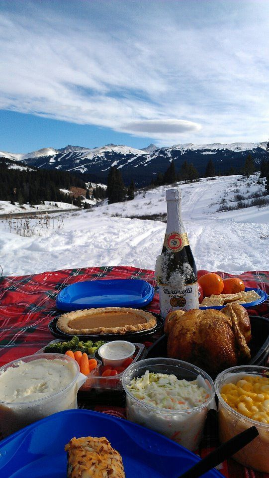 Thanksgiving on the side of the Colorado Mountains