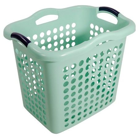 Home Logic 1 5 Bu Decor Laundry Basket Green Target Laundry