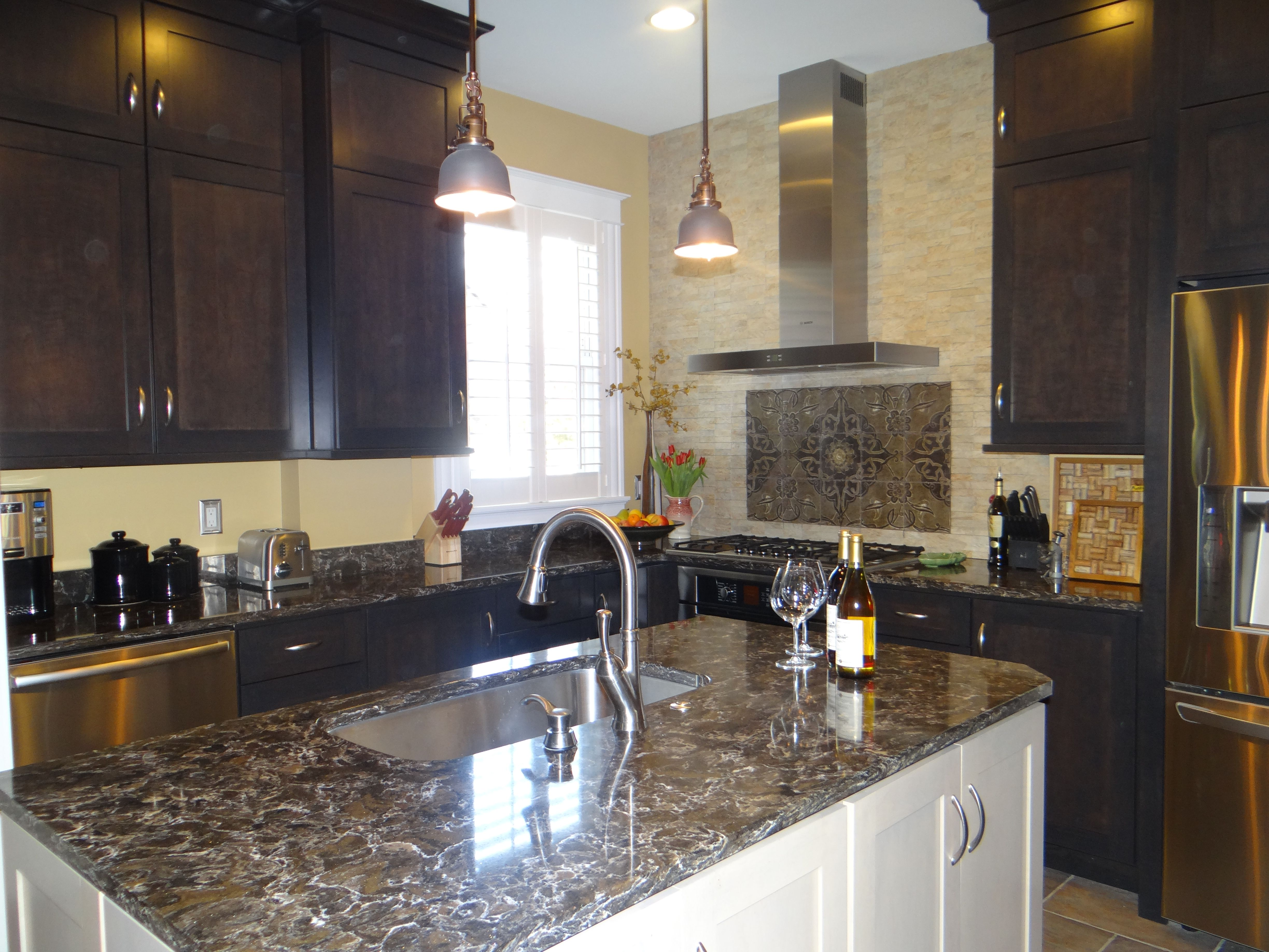Great Contrasting Center Center Island Counters Cambria Counters Center Island Small Kitchen Renovation Contrasting Center Custom Back Small Kitchen Renovation kitchen Center Island Countertops