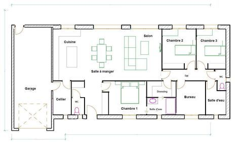 Captivating Plan Maison 120m2 Plain Pied