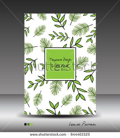 Green Cover design, Annual report vector illustration, business - annual report cover template