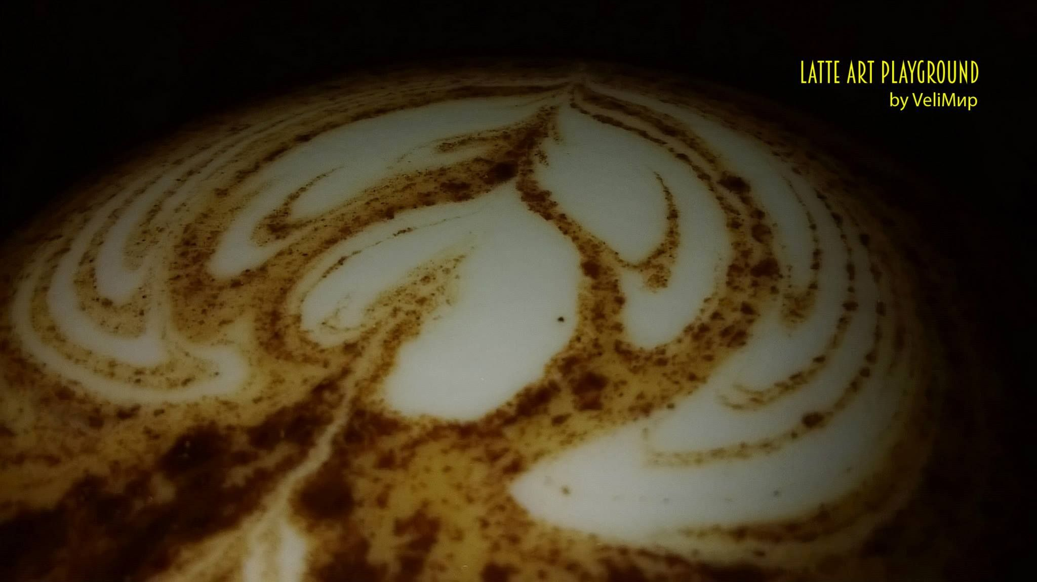 creamy like a cocoa cloud  #kimbo #coffee #art