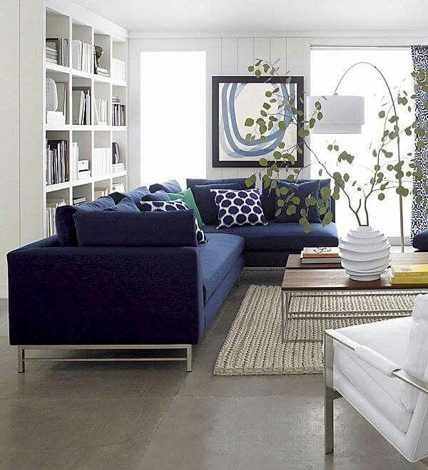 Kombinasi Menarik Untuk Sofa Biru Di Ruang Tamu Desain Rumah