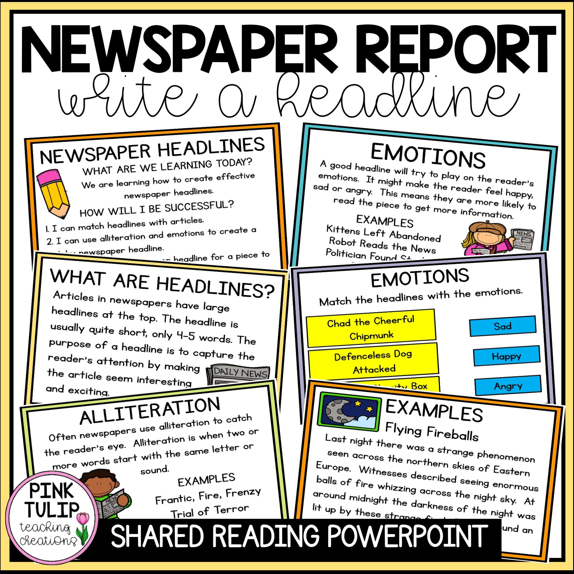 Writing Newspaper Headlines