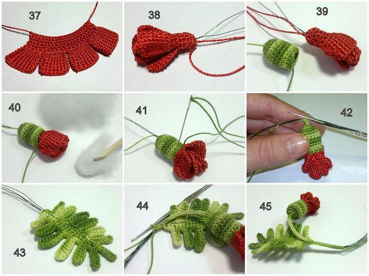 Broche Amapola Tutorial - Patrones Crochet | Croshet to try ...