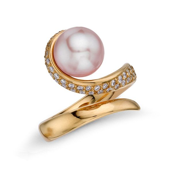 Blushing Swirls Rose Gold and Diamond Ring by Joule