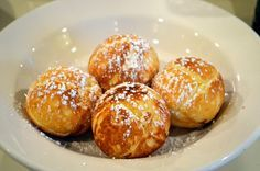 Mennonite Girls Can Cook: Aebleskiver (Danish Pancake Balls)  Another way to try, easier uses pancake mix