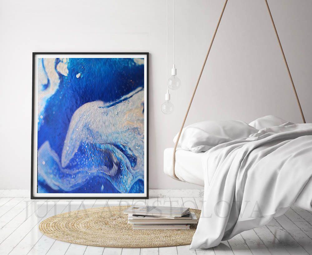 Abstractart ocean blue prints set of 2 wallart art large abstractart ocean blue prints set of 2 wallart art malvernweather Images