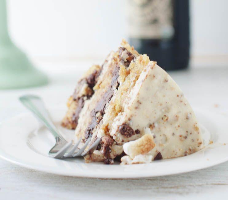 Momofuku Inspired Chocolate Stout, Pretzel, and Marshmallow Cake | The Cake Merchant