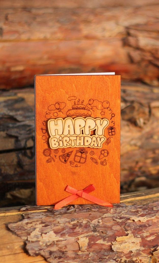 Happy Birthday Card Funny Birthday Wood Gift For Him Boyfriend Men