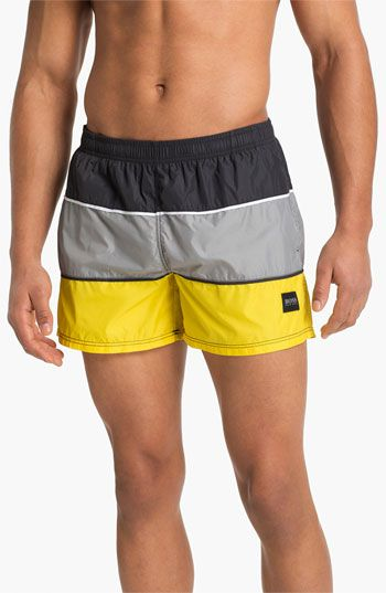 2535c73687 BOSS Black 'Butterfly' Swim Trunks available at Nordstrom   My Style ...