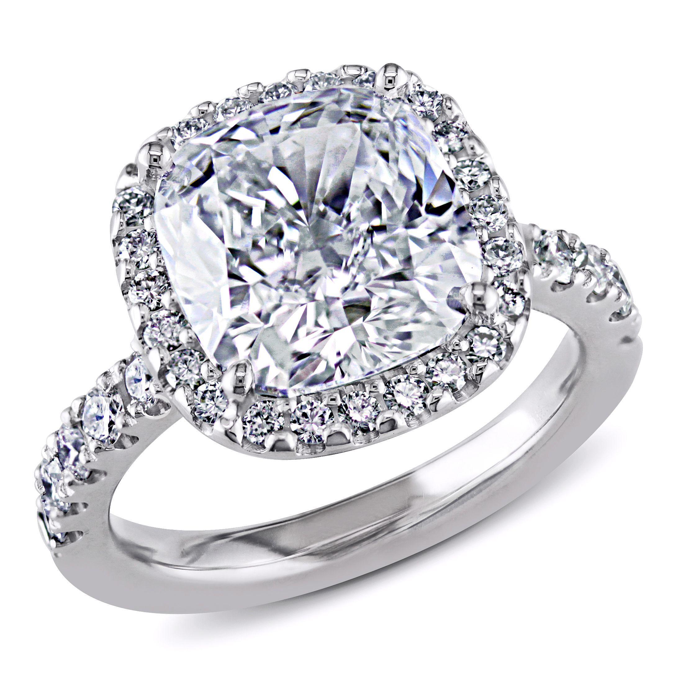 Miadora signature collection 14k white gold 1ct tdw diamond double row - 18k Gold 5 5 8ct Tdw Gia Certified Cushion Cut Halo Diamond Ring H Si1 By Miadora Signature Collection Size 10 Women S White