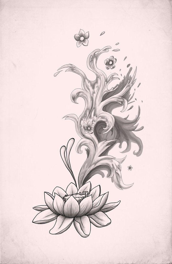 Tattoo With Lotus Flower Lotus Tattoo By Xxmortanixx On