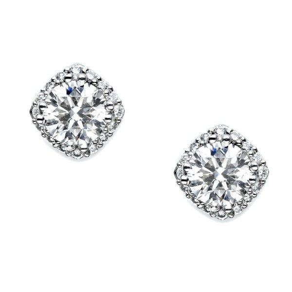 Tacori 18k925 Solomon Brothers Halo Diamonddiamond Studsdiamond