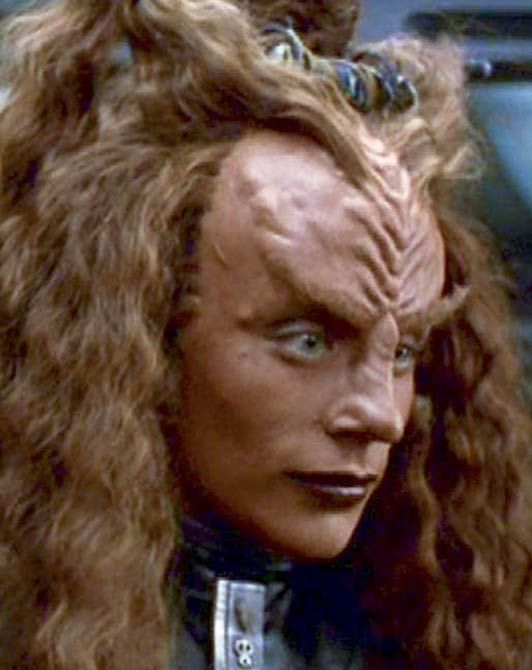 Fantasy Makeups Aliens The Star Trek Universe Klingons Peggy Jo Jacobs As Ch Rega In Star Trek Voy Star Trek Klingon Star Trek Ds9 Scotty Star Trek