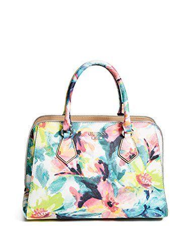 099caeb13674 Gorgeous floral GUESS Factory Women s Remmington Saffiano Satchel G by GUESS  on sale regular  74.99!