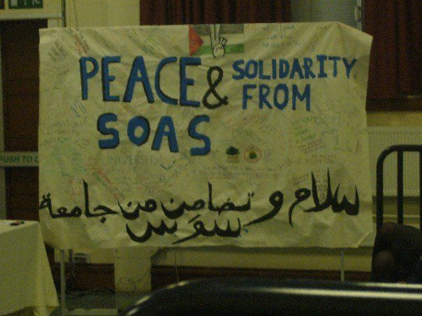 SOAS loves to protest. the most left wing school in London and damn we are proud of it.