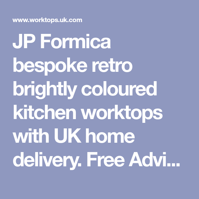 Jp Formica Bespoke Retro Brightly Coloured Kitchen Worktops