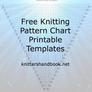 free knitting pattern chart printable templates knitting tutorials