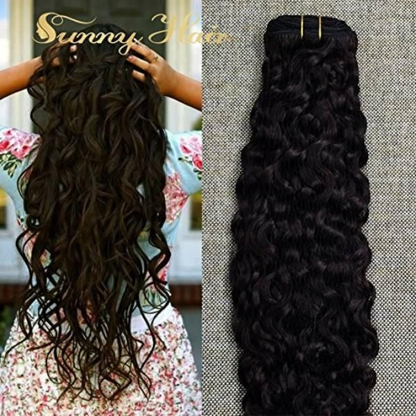 Natural Wavy Clip In Human Hair Extensions Darkest Brown 2 Sunny