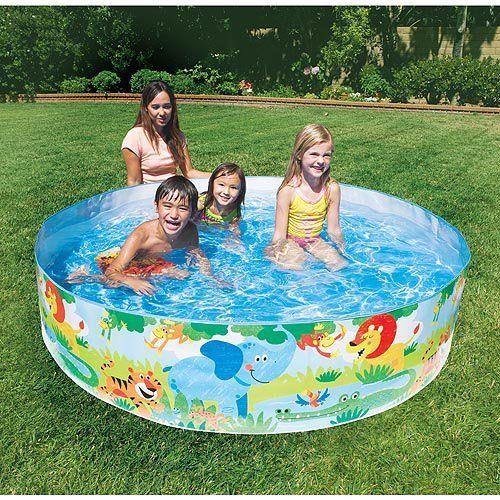 Amazon Com Intex Jungle 6ft Snapset Pool Toys Games Blow Up
