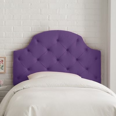 Tufted Headboard In Purple Upholstered Headboard Tufted Upholstered Headboard Headboard Styles