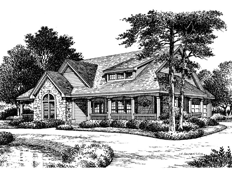 Mountain Home Plan Front Image of House 007D 0055 from