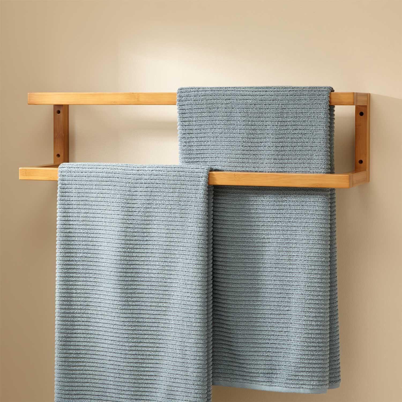 Salvatore Bamboo Mounted Towel Rack   Toallas y Cuarto de baño
