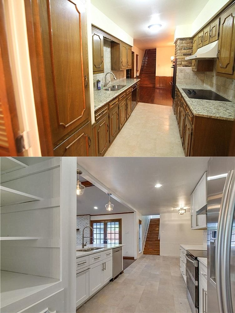 kitchen remodel before and after pictures galley kitchen remodel with images galley on kitchen renovation id=94304