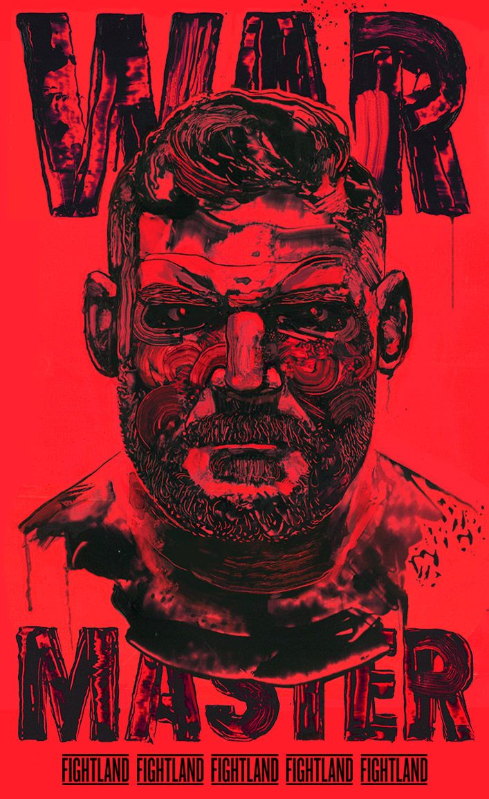 """""""Warmaster"""" 14″x24″ Acrylic, Digital. 2015.Check it out on Fightland"""