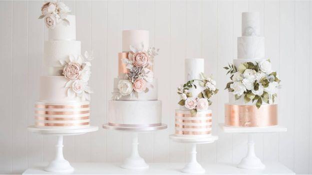 Image Result For Rose Gold Wedding Cakes Cake Decorating