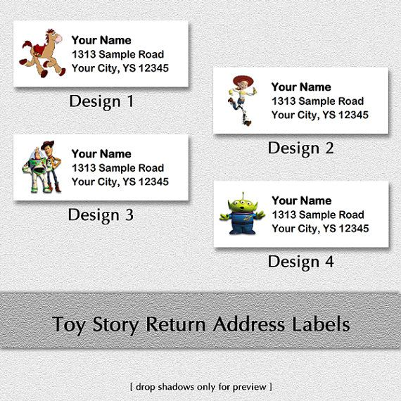 Toy Story Custom Return Address Labels Woody by CustomisedDesign - sample return address label