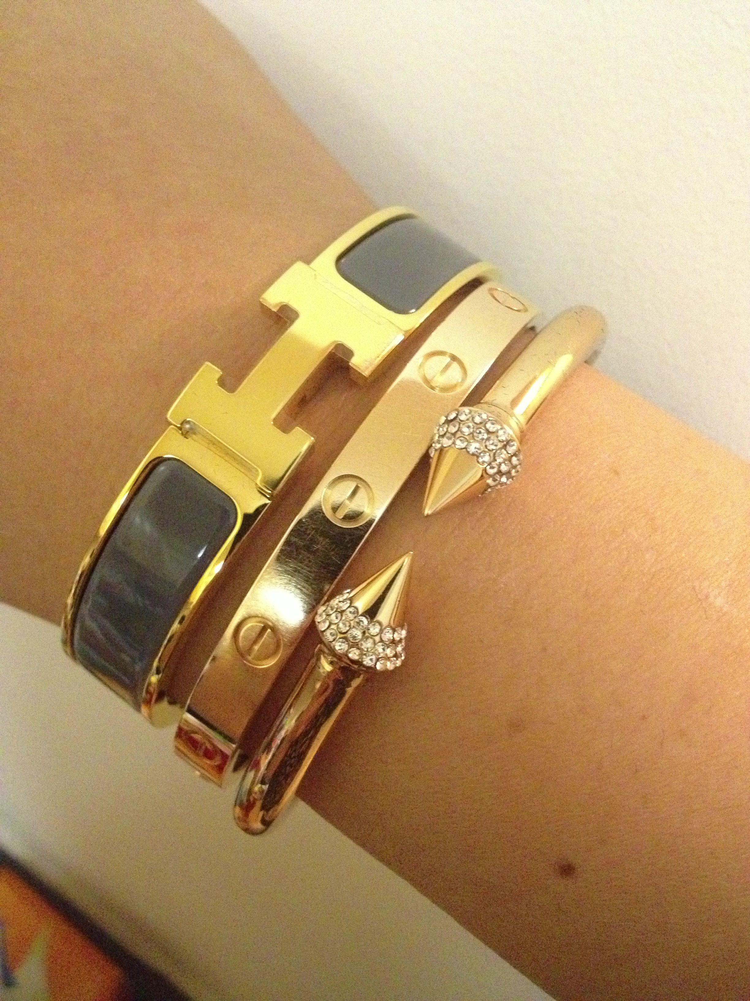 Love my stack hermes cartier vidafede arm candy pinterest