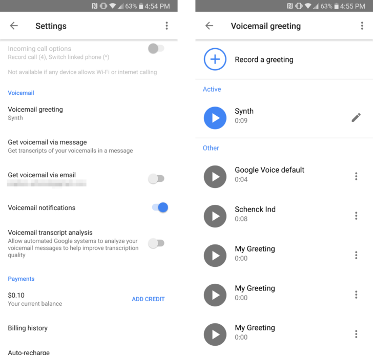 Google voice v510 adds voicemail greeting management olitechnews google voice v510 adds voicemail greeting management m4hsunfo