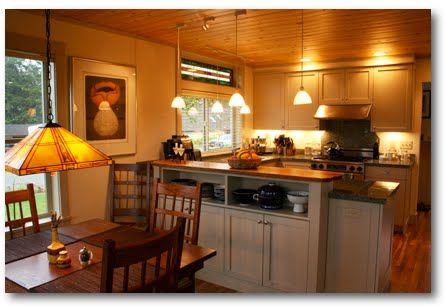 Open storage in peninsula | Kitchen | Pinterest | Kitchen peninsula