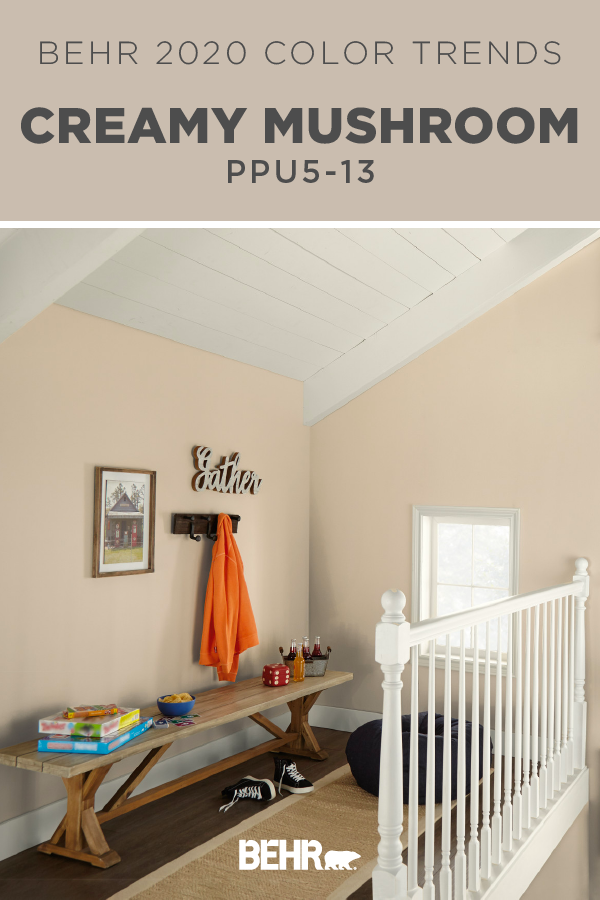 BEHR® Paint in Creamy Mushroom is an eclectic and ...