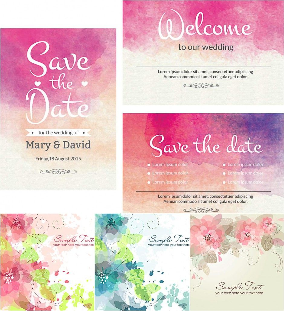 Description: Compilation of vectors with lovely watercolor design ...