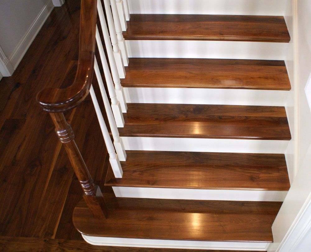 Best Rustic Walnut Stair Treads Stairs Stairs Edge Stair Treads 640 x 480