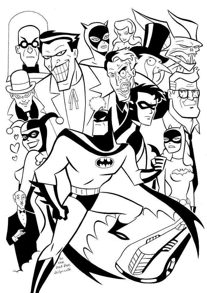 Animated Batman Coloring Pages Beyond Series