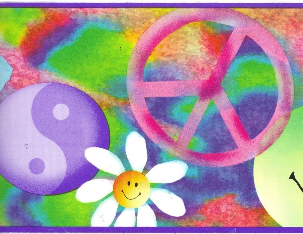 Peace Sign Love Yin Yang Butterfly Daisy Heart Smile Face