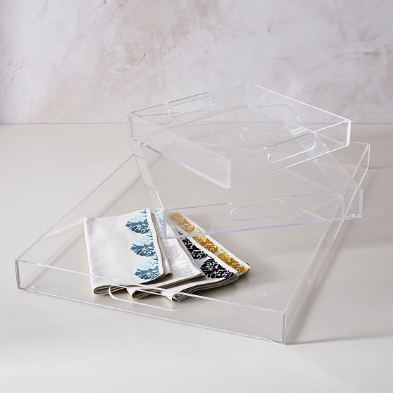 Acrylic Tray Clear 14 X18 At West Elm Serving Trays Acrylic